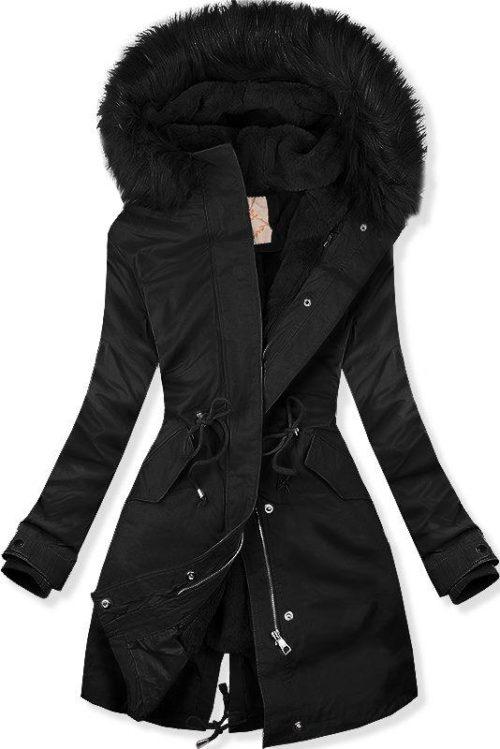 Pri tomto type dámskej zimnej bundy oceníte možnosť regulácie v páse  pomocou šnúrok. V prednej časti sa nachádzajú praktické vrecká. 43467728aba